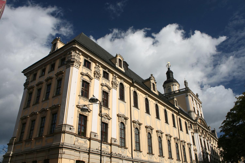 Hlavní univerzitní budova, Wroclaw, Polsko